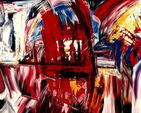 Rot, Malerei, Unten, Acrylmalerei
