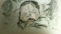 Baby, Menschen, Zeichnung, Kind