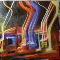 Farben, Bewegung, Nacht, Lichtmalerei