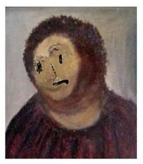 Vandalismus, Jesus, Fresko, Digitale kunst