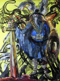 Sage, Odin, Malerei,
