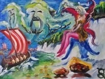 Katzengold, Malerei