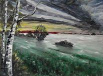 Mönchgut, Rügen, Nebel, Malerei