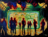 Erwartung, Menschen, Licht, Malerei