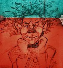 Zirkus, Clown, Atmen, Zeichnungen