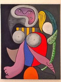 Abstrakt, Dame, Modern, Acrylmalerei