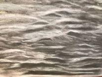 Bleistiftzeichnung, Zeichnung, Radiergummi, Landschaft