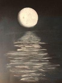 Zeichnung, Wasser, Mond, Zeichnungen