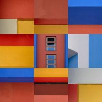 Quadrat, Neues bauen, Collage, Struktur