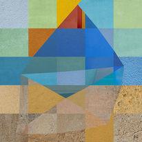 Architektur, Quadratur, Collage, Sandstein