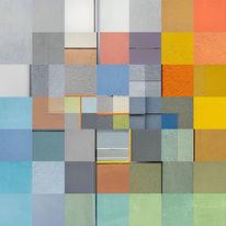 Architektur, Putz, Quadrat, Bunt