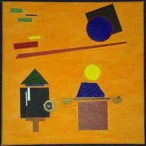 Quadrat, Lauer, Lack, Abstrakt