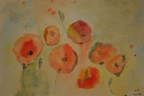 Aquarellmalerei, Mohn, Aquarell,
