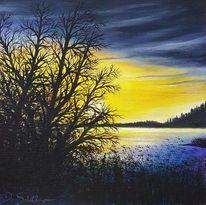 Himmel, Abendstimmung, Malerei