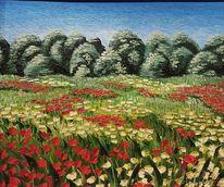 Blumenwiese, Sommer, Malerei