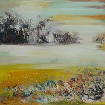Gemälde, Abstrakt, Ölmalerei, Blumen