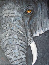 Tiere, Malerei, Elefant,