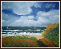 Wasser, Meer, Acrylmalerei, Landschaft