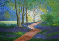 Landschaft, Acrylmalerei, Malerei, Waldweg