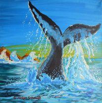 Acrylmalerei, Meer, Tiere, Malerei
