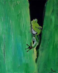 Frosch, Grün, Küss mich, Blätter