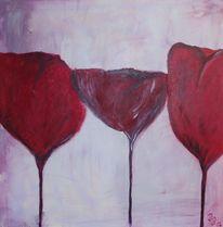 Rosé, Rot, Blüte, Abstrakt