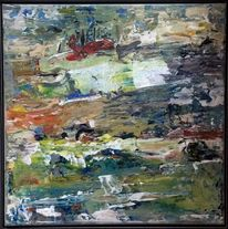 Blau, Stein, Fluss, Malerei