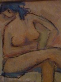 Mädchen, Portrait, Figur, Mischtechnik