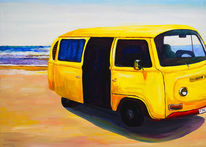 Strand, Reise, Bulli, Vw bus