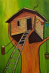 Traum, Haus, Wald, Kinder