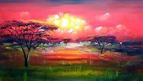 Natur, Afrika, Malerei