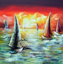 Sailingboat, Abstrakt, Fantasie, Modern