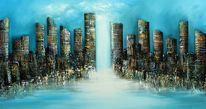 Fantasie, 3d, Skyline, Modern