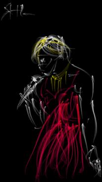 Abstrakt, Digital, Sängerin, Digitale kunst
