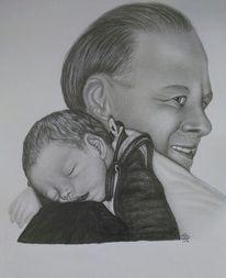 Geburt, Portrait, Tochter, Stolz