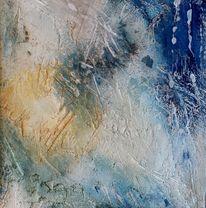 Malerei, Wintersonne, Eis