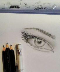 Glänzen, Augen, Highlights, Zeichnungen