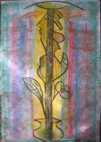 Kreide, Figural, Surreal, Malerei