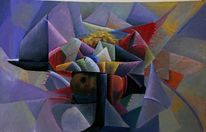 Dreiecke, Bunt, Abstrakt, Blau