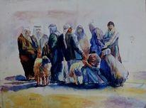 Schaf, Wasserfarben, Araber, Aquarell