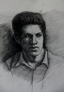 Zeichnung, Mann, Portrait, Zeichnungen