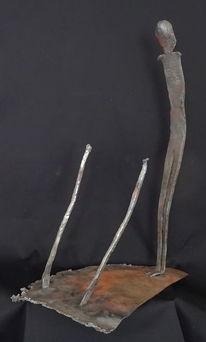 Eisen geschmiedet, Skulptur, Schweißen, Metall