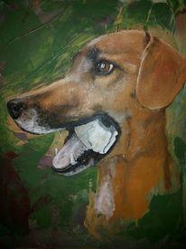 Acrylmalerei, Hund, Malerei,