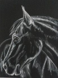 Schwarz weiß, Acrylmalerei, Pferde, Malerei