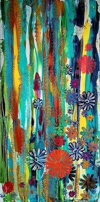Wasser, Blau, Blumen, Gold
