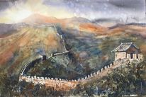 Landschaft, Sonne, China, Mauer