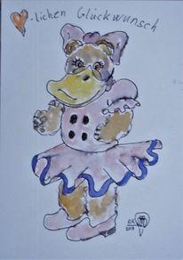 Bär, Ente, Gänseblümchen, Teddy