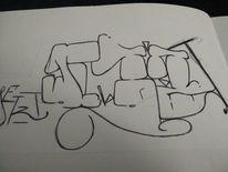 Graffiti, Mischtechnik,