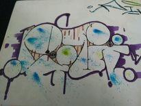Graffiti, Pivi, Mischtechnik