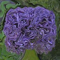 Zierlauch, Quadrat, Blumen, Abstrakt